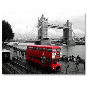 Αφίσα (Λονδίνο, μαύρο, λευκό, άσπρο)